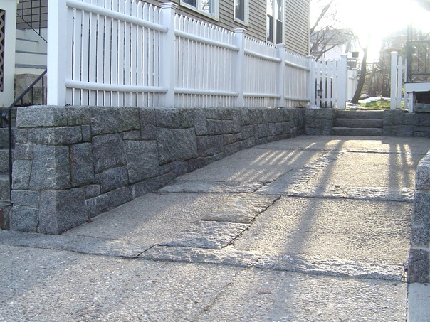 Cape Ann granite wall and driveway JPG