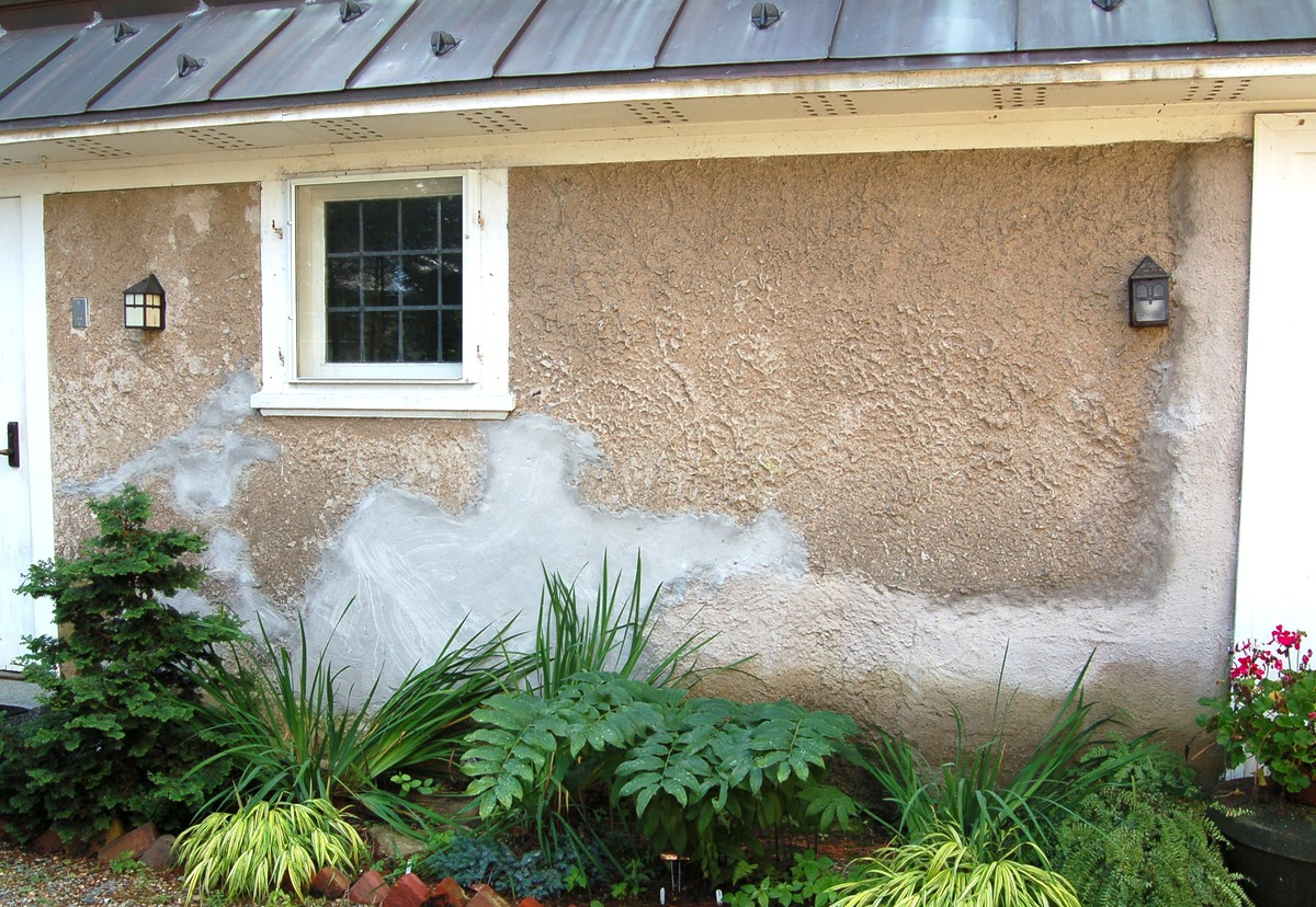 Improper repairs with portland cement