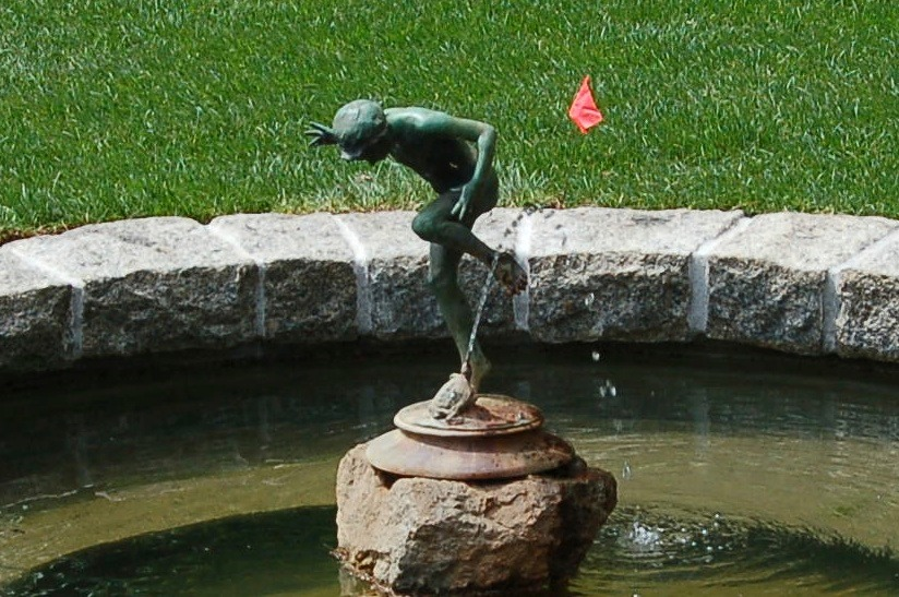 Pond fountain detail