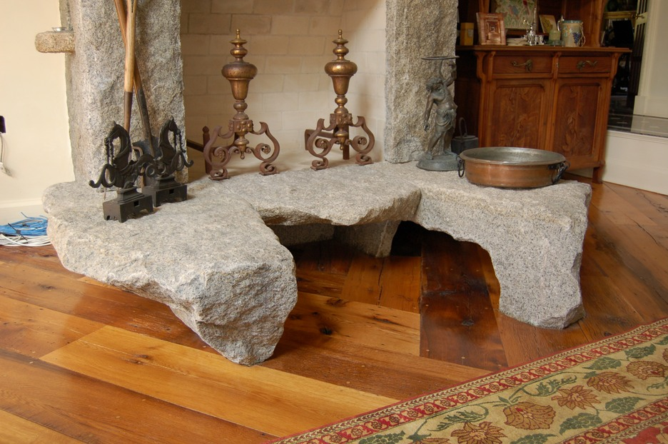 Granite fireplace hearth