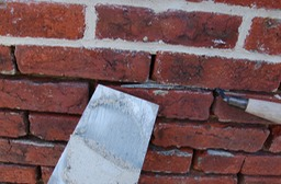Repointing with lime mortar